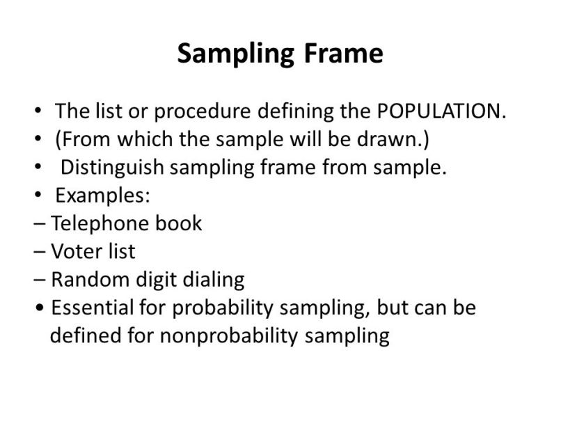 Sampling Frame Example Definition | Frameswalls.org