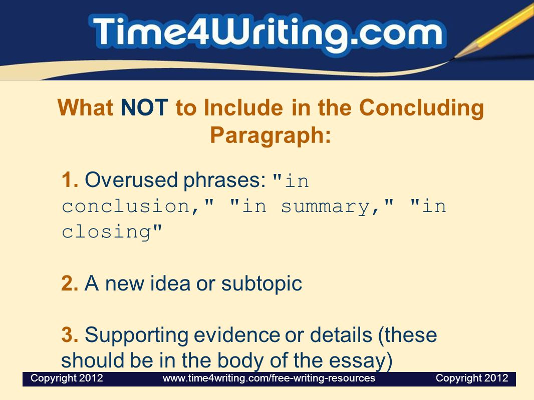 Writing a Good Concluding Paragraph  ppt video online