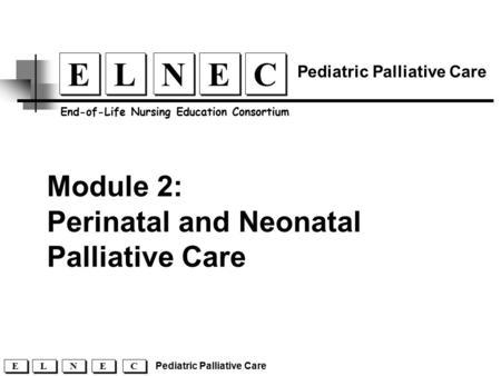 Pediatric palliative care case study