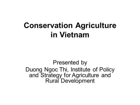 Promotion of Semi-Industrial Aquaculture in Vietnam 1