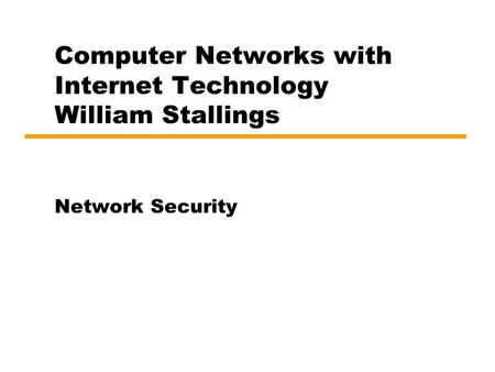 Network Security Md. Kamrul Hasan Assistant Professor and