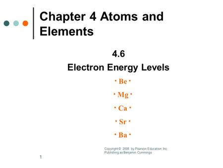 1 Chapter 3 Electronic Structure and the Periodic Law 3.2