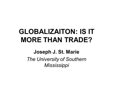 INDEX OF GLOBALIZATION. WHAT IS IT? The KOF Index of