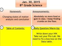 Biology - 5/6 *** Pick up a PhET worksheet 1. review ...