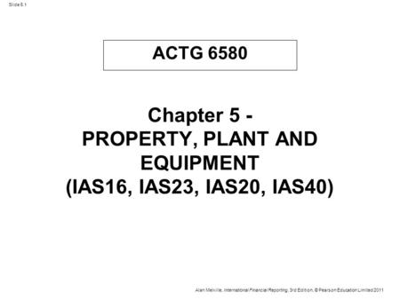 11-1 ACTG 6580 Chapter 11