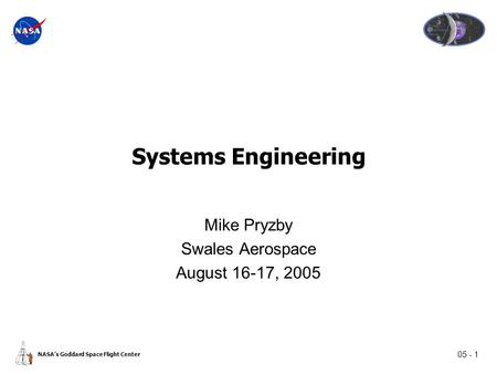 The Project Life Cycle Module Space Systems Engineering