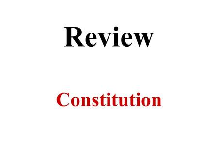 The Constitution U.S. Chapter 2. The Paradoxical US