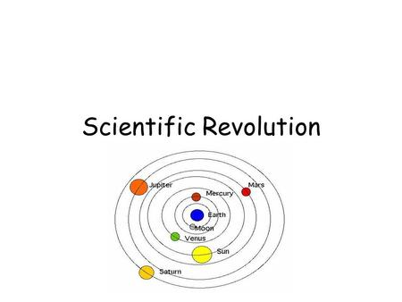 SCIENTIFIC REVOLUTION. PRIOR TO THE AGE OF REASON Middle