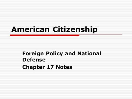 American Government Chapter ppt download