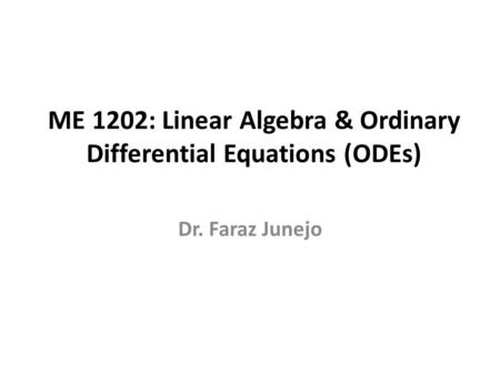 Introduction to System of Linear Equations Gaussian