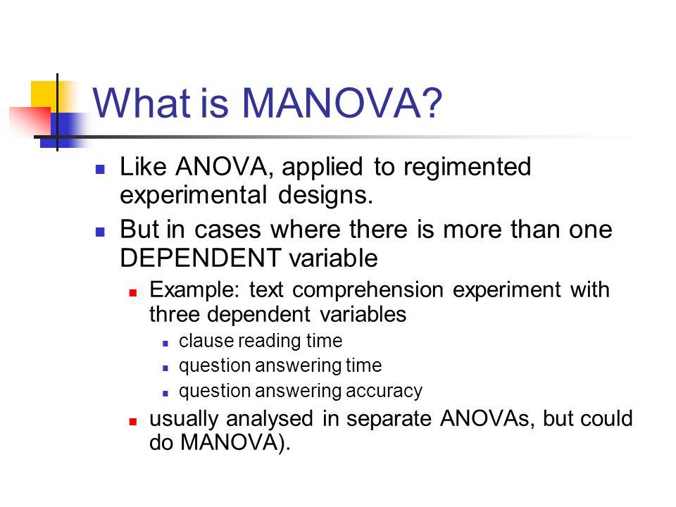 MANOVA And DISCRIMINANT ANALYSIS Alan Garnham Spring Ppt Video