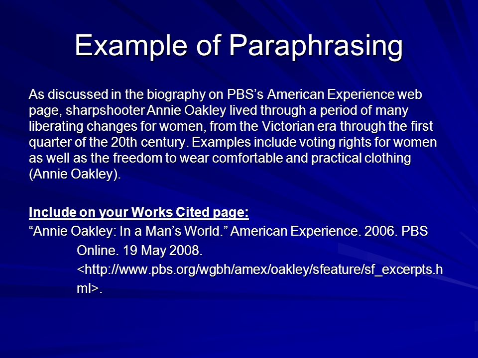 Quoting Paraphrasing And Summarizing Ppt Video Online