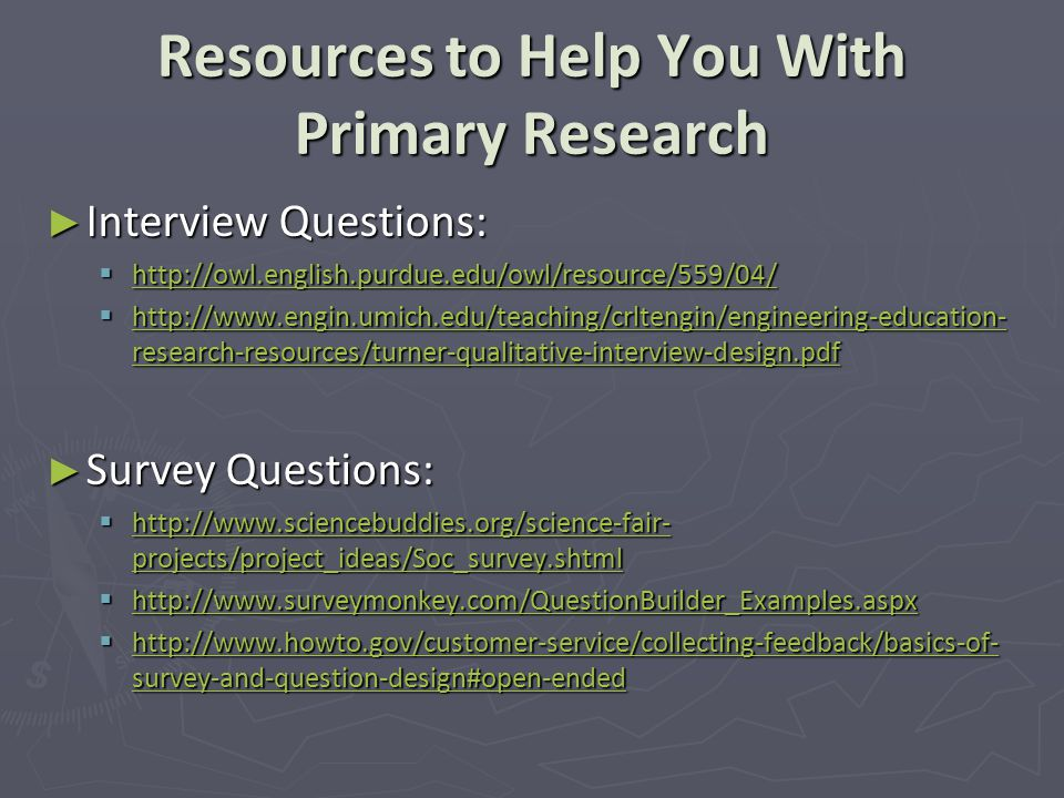 What Is Primary Research And How Do I Do It? Ppt Download