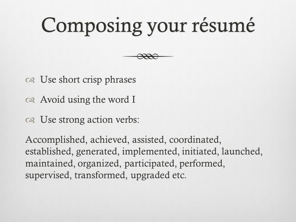 Words ...  Words To Avoid On Resume