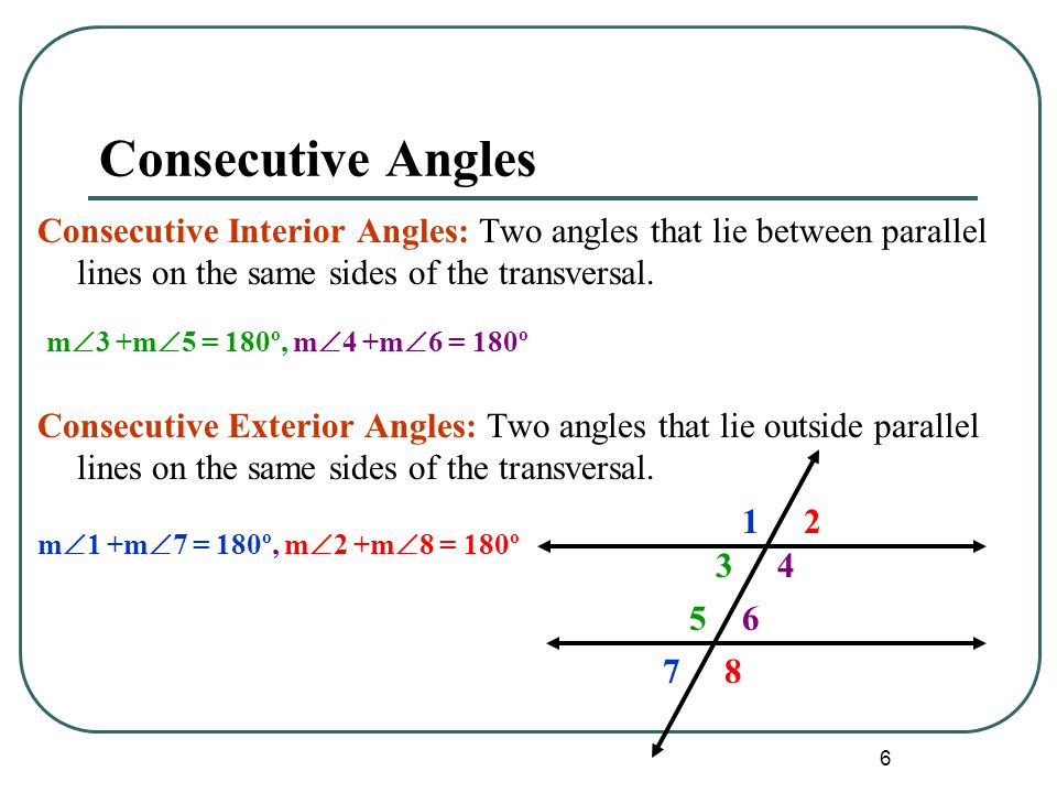 Same Side Interior Angles