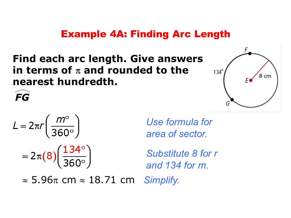 Objectives Find The Area Of Sectors Find Arc Lengths