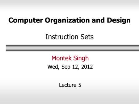 Computer Organization and Design Instruction Sets ppt download