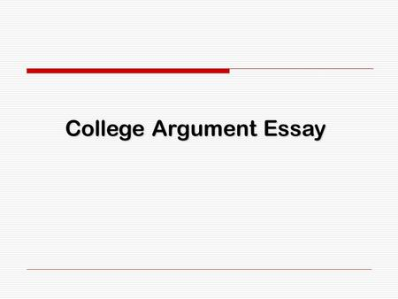 Parts of an Argumentative Essay. Parts of an Introduction