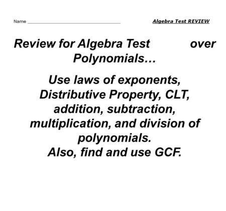 Algebra 3 Warm-Up 2.2 List the factors of 36 1, 36 2, 18 3