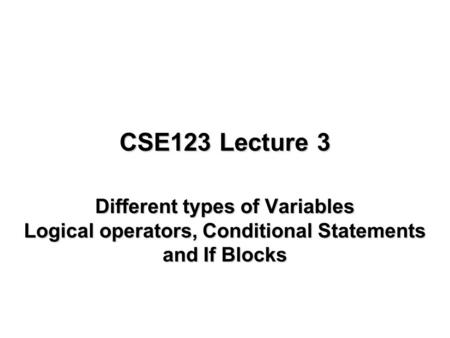 Fall 2006AE6382 Design Computing1 Control Statements in