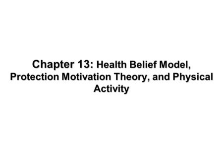 1 Health Psychology Chapter 3: Seeking Health Care (Health
