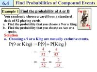 Probability Of Compound Events Worksheet - The Large and ...