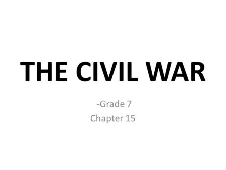U.S. History Chapter 11 Civil War Events Essential