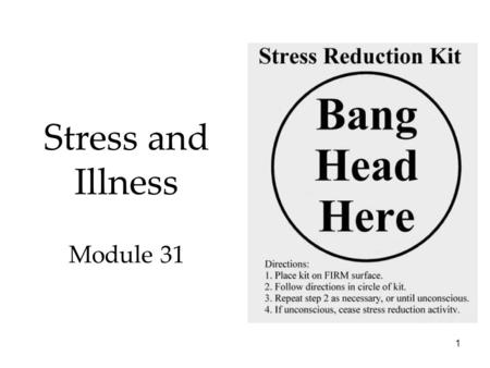Stress, Health, and Human Flourishing Chapter ppt download
