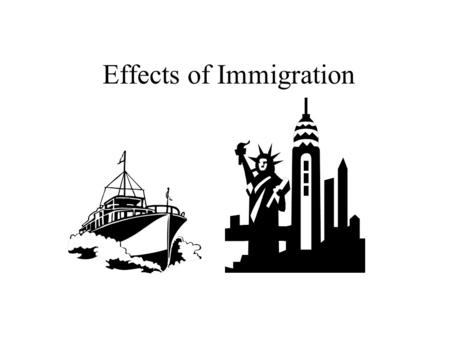 15 Immigrants and Urbanization QUIT CHAPTER OBJECTIVE