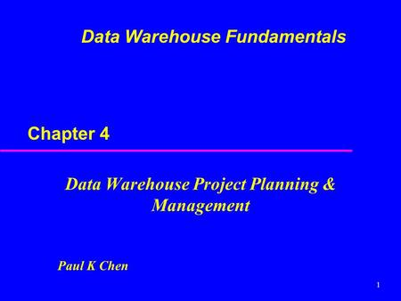 Planning a Data Warehouse  ppt download