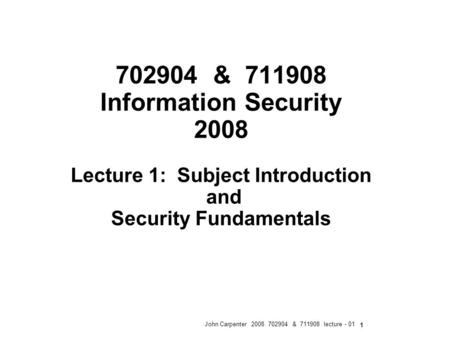 1 1 IAPP Privacy Certification Information Security Robert