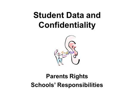 CONFIDENTIALITY Q & A's for School Staff. What Laws Apply