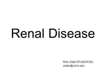 RENAL DISEASE CHAPTER ppt video online download