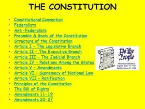 Chapter 2: Confederation to Constitution ppt download
