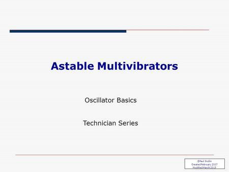ECE 3450 M. A. Jupina, VU, 2014 Multivibrator Circuits