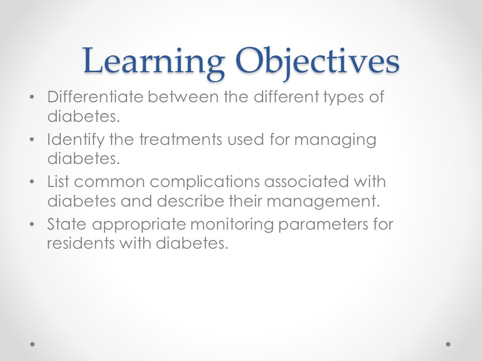 Optimizing Diabetic Care in Residential Care  ppt video online download