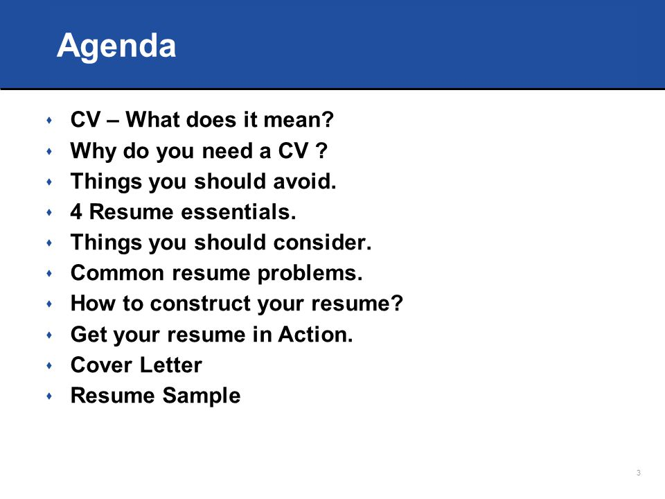 resume cv what does it mean