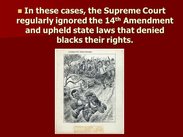 Plessy v Ferguson Supreme Court Case ppt download