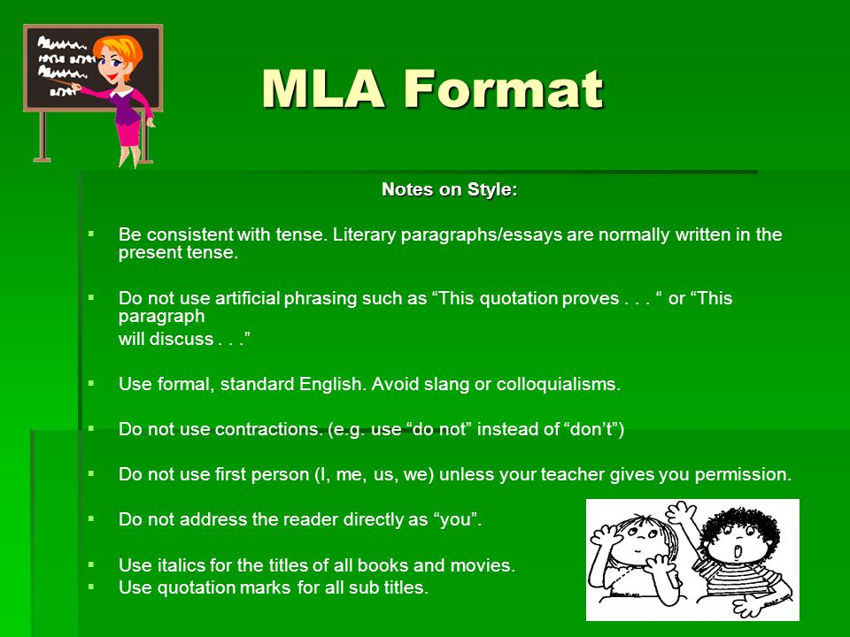 a example of mla format