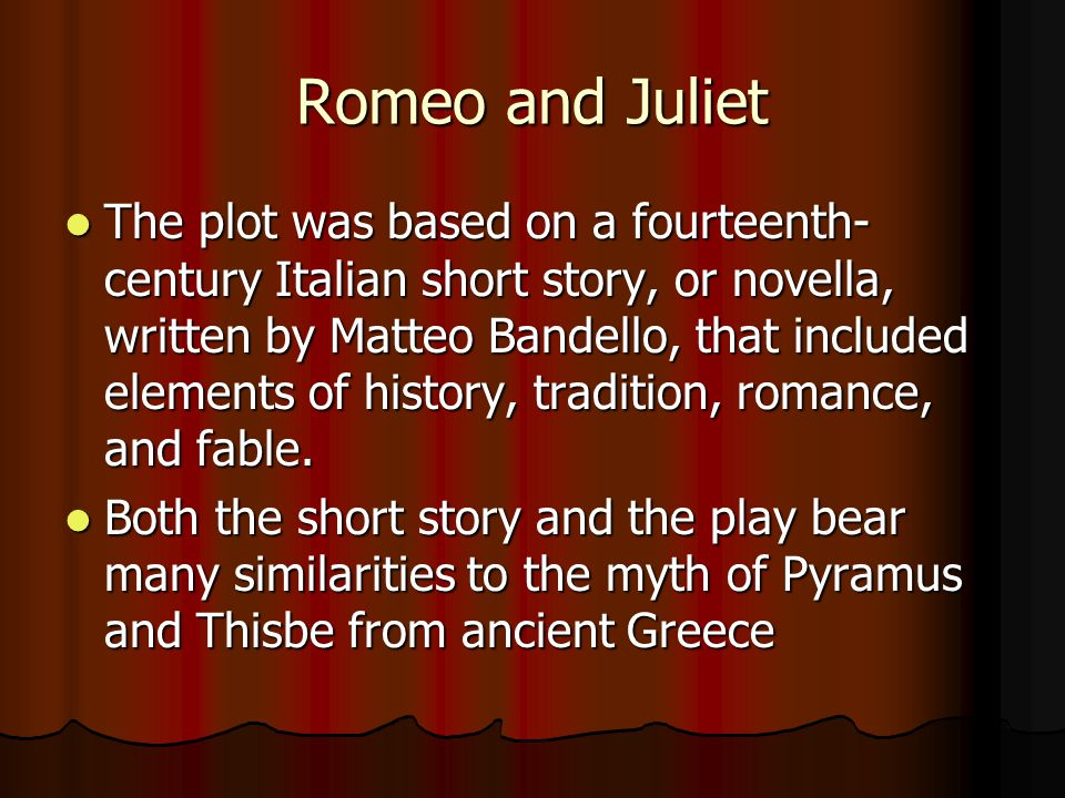 Shakespeare's Romeo And Juliet Ppt Download