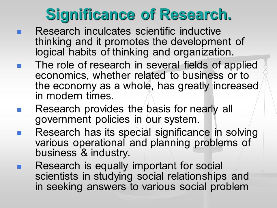 Meaning Of Research 1 Research Refers To A Search For