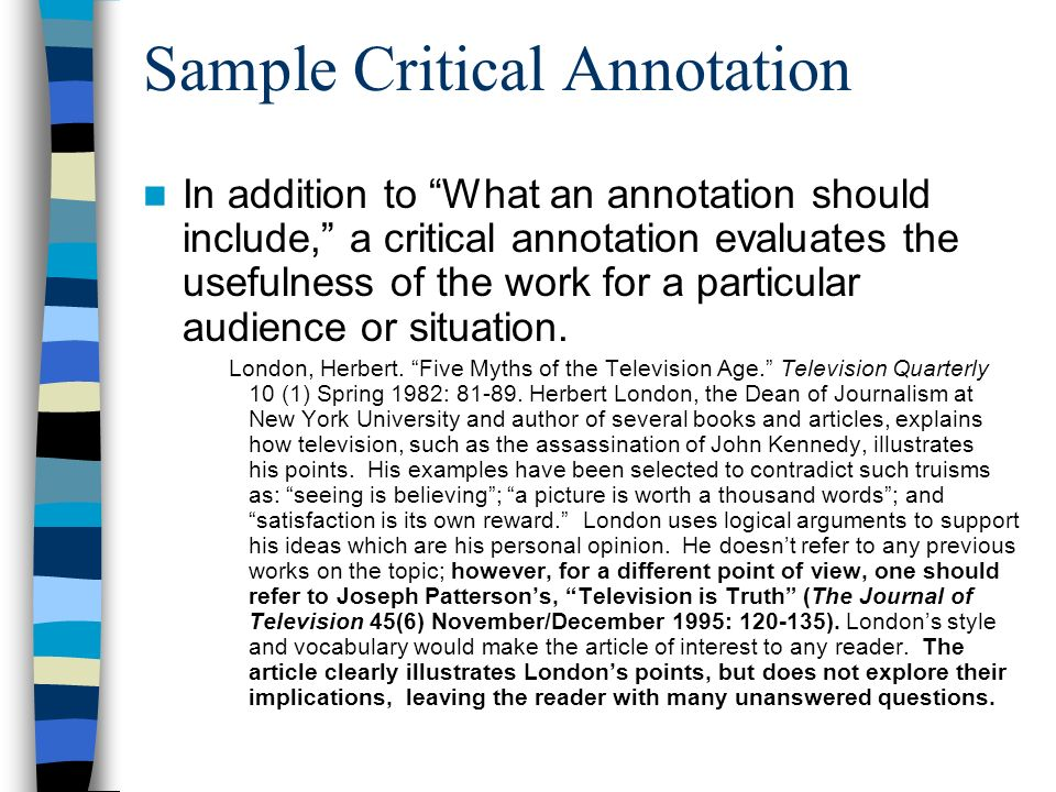 What Is An Annotated Bibliography  ppt video online download