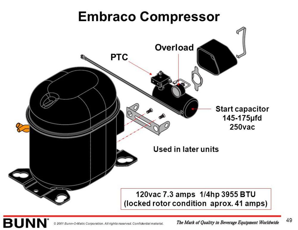 medium resolution of embraco compressor overload ptc start capacitor 145 175 c2