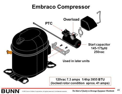 small resolution of embraco compressor overload ptc start capacitor 145 175 c2