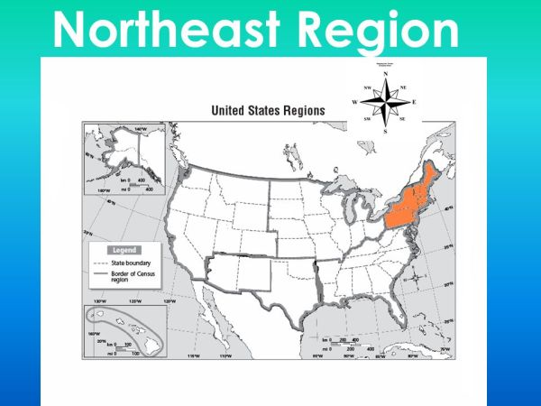 The Five regions of the USA Naming the states and