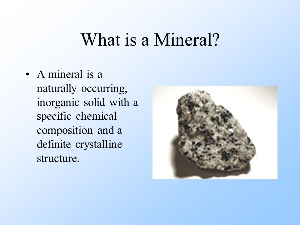 What is a Mineral  ppt download