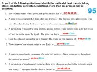 √ Worksheet Methods Of Heat Transfer   Heat Transfer ...