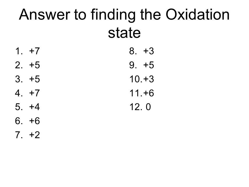 Oxidation State Worksheet. oxidation number worksheet the