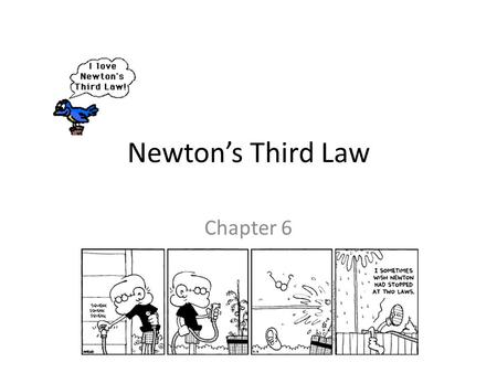 Chapter 7: Newton's Third Law or Motion Action and