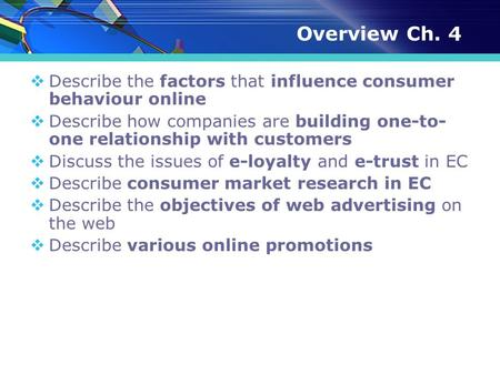 Chapter 6 B2b Ecommerce Learning Objectives 1 Describe The B2b Field 2 Describe The Major